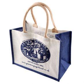 带软提手的黄麻购物袋